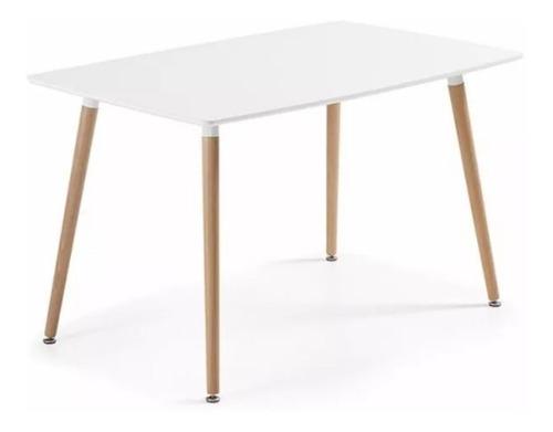 juego de comedor mesa eames 120 x 80 + 4 sillas eames cuotas