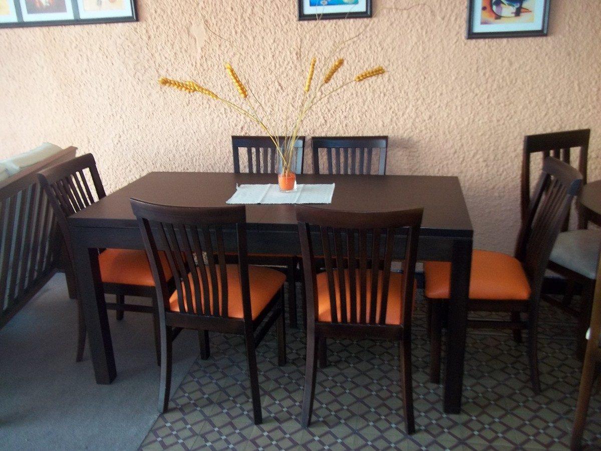 Mesa de comedor madera 6 sillas for Juego de comedor diario