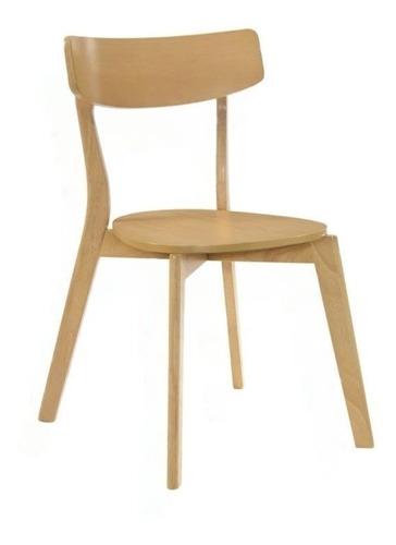 juego de comedor mesa madera 80x90 + 2 sillas claire nordica