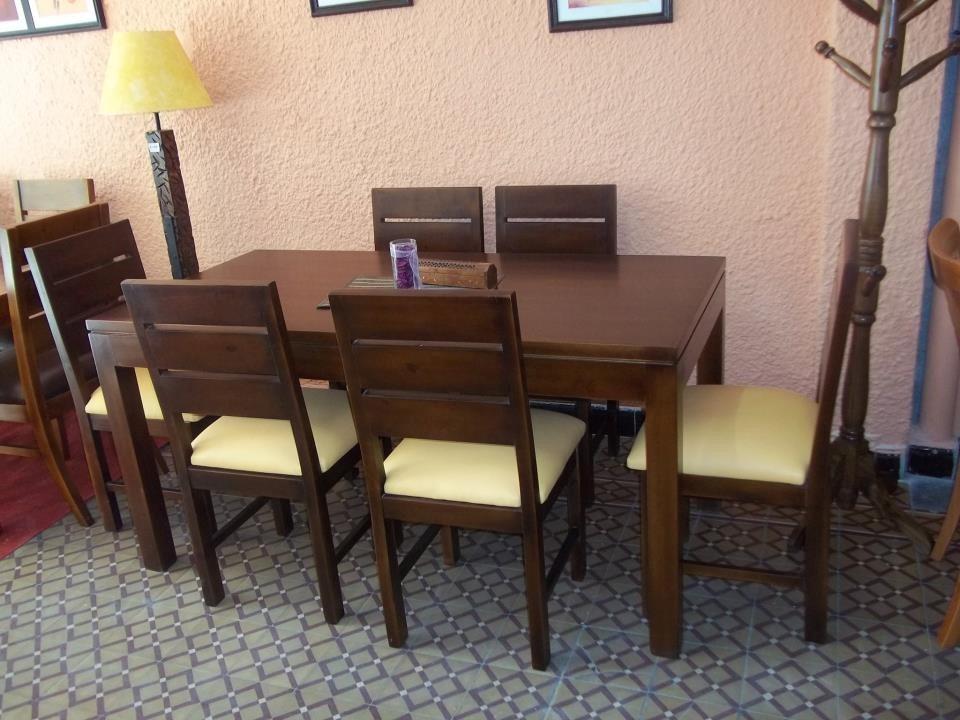 Juego de comedor mesa sillas living en for Mesas de living