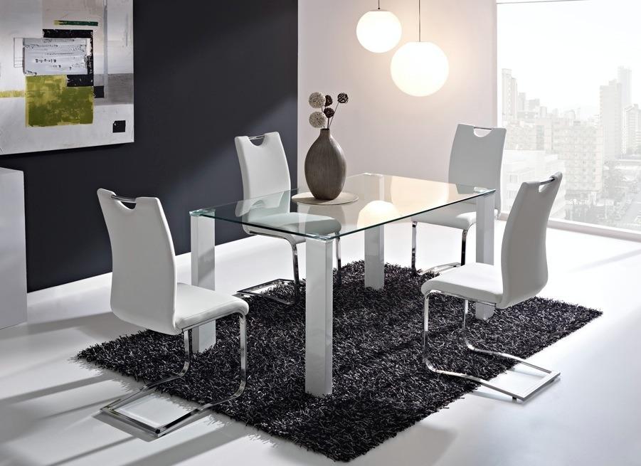 Mesas de vidrio modernas para comedor casa dise o for Mesas de comedor de vidrio modernas