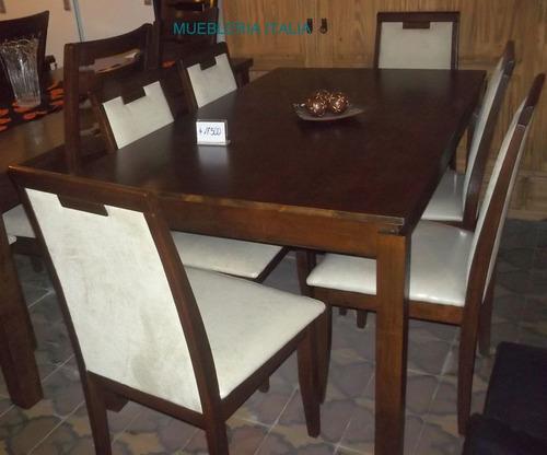 juego de comedor mesa y 6 sillas comedores living sillas