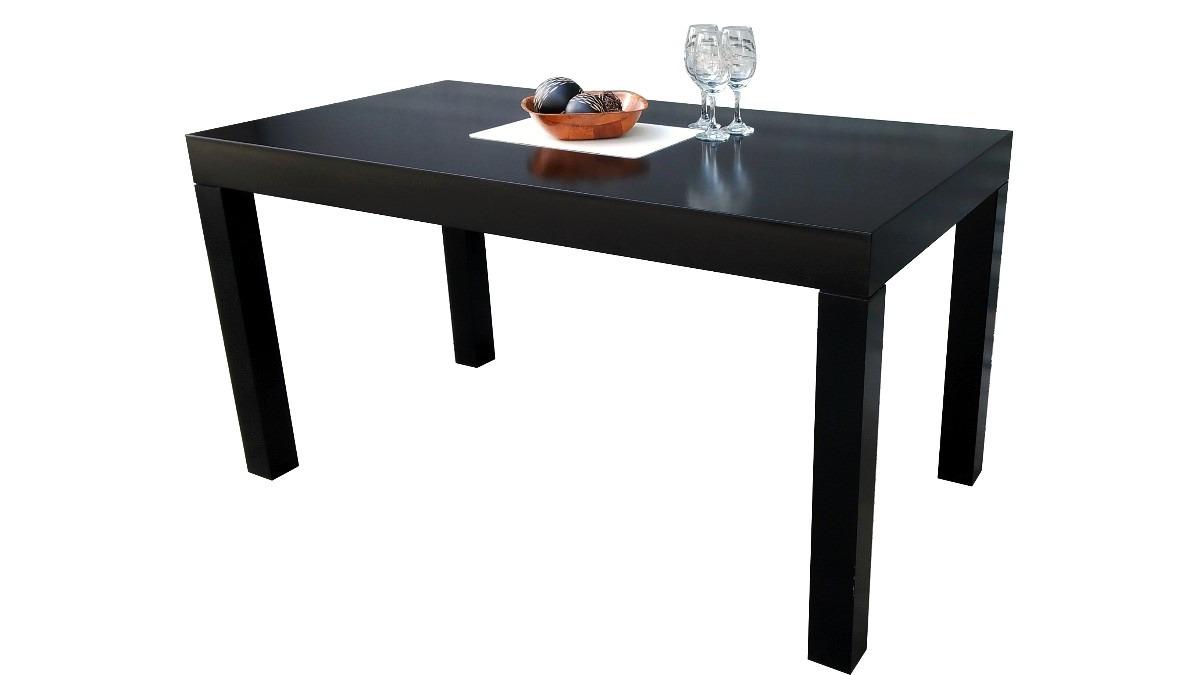 juego de comedor mesa y sillas living madera laqueado