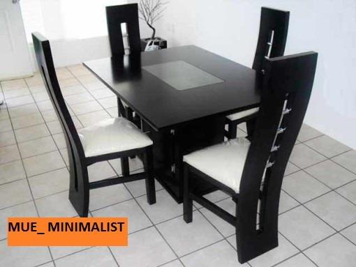 Juego de comedor minimalista moderno de 4 y 6 puestos bs for Comedor moderno minimalista