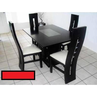 Juego de comedor moderno 4 puestos estilo minimalista for Comedor estilo minimalista