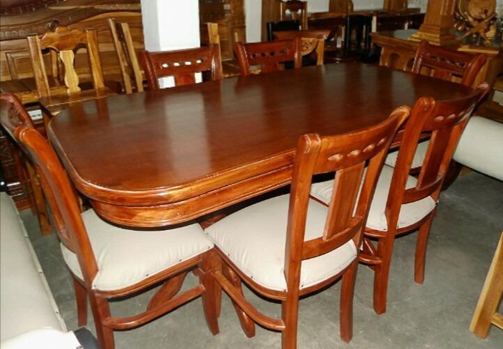 Juego de comedor moderno en madera de 6 puestos bs 9 for Juego de comedor de madera