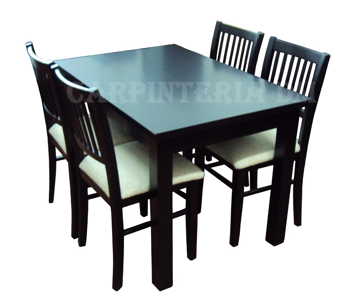 juego de comedor moderno mesa xcm y sillas tapizadas
