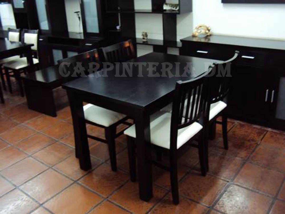Juego De Comedor Moderno Mesa 110x70cm Y 4 Sillas Tapizadas ...