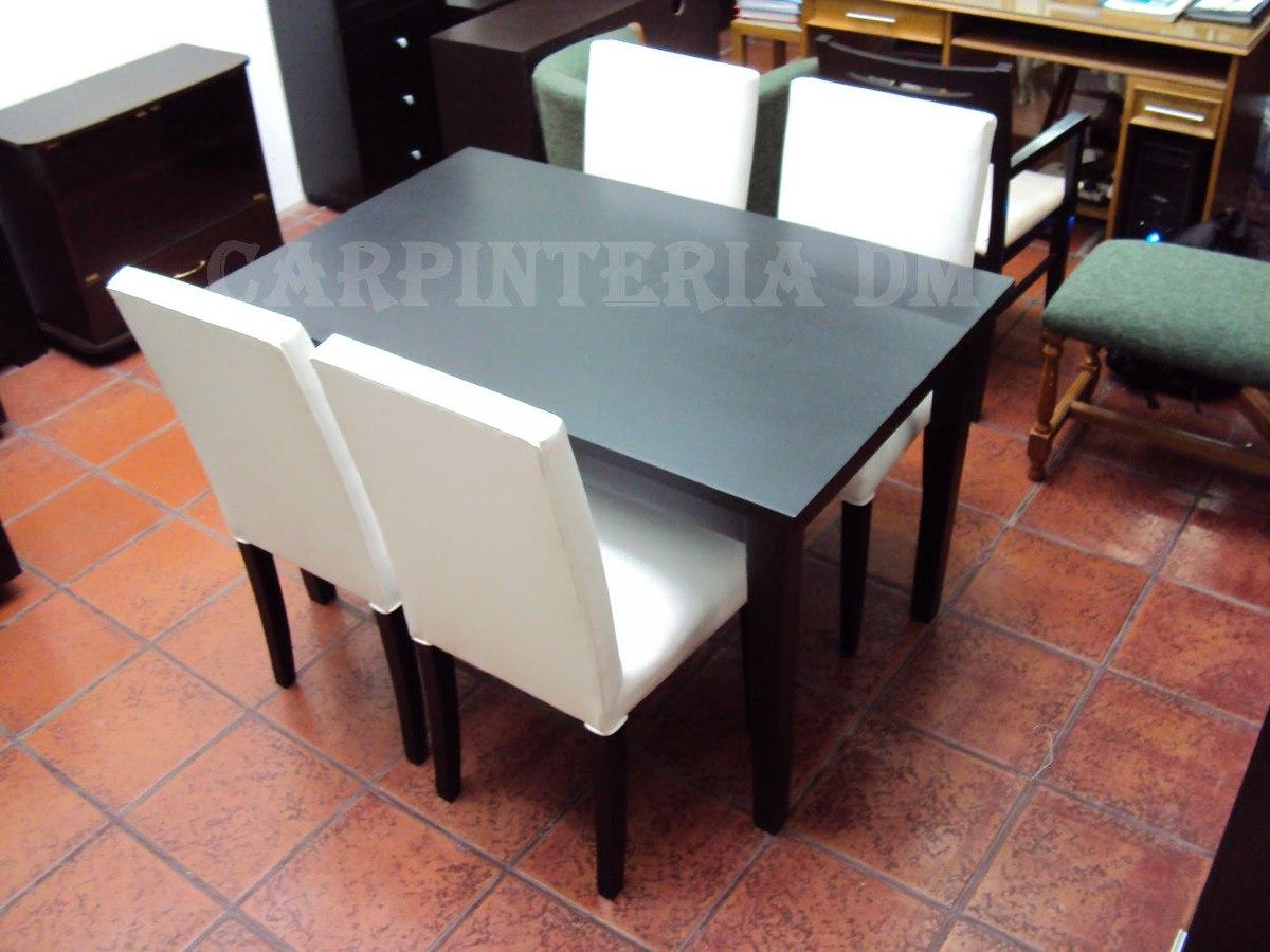 Juego de comedor moderno mesa 130x80cm y 4 sillas for Mesa de comedor 4 sillas