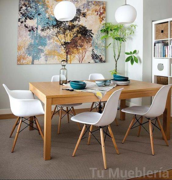 Juego De Comedor Moderno Mesa 140 X 80 + 4 Sillas Eames - $ 10.790 ...