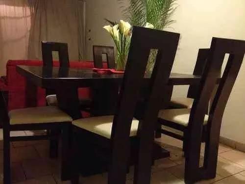 Juego de comedor moderno minimalista de 6 puestos bs for Comedor moderno minimalista