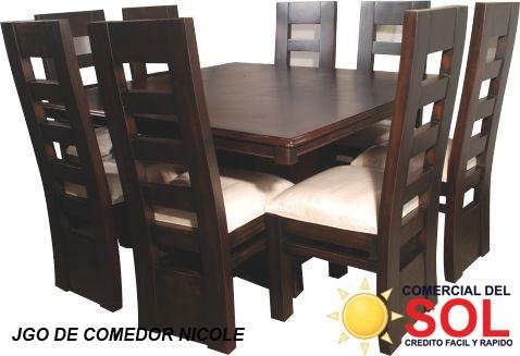 juego de comedor nicole de 8 sillas en caoba