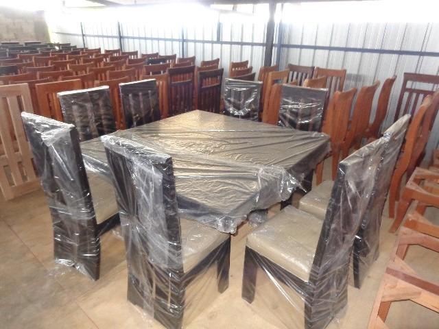 Juego de comedor nuevo de 8 sillas en caoba pura for Lo ultimo en sillas de comedor