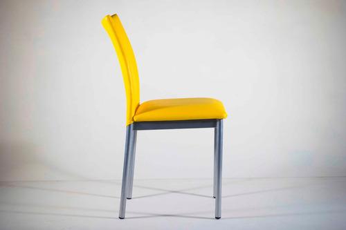 juego de comedor pack 6 sillas  modernas tapizadas ipanema