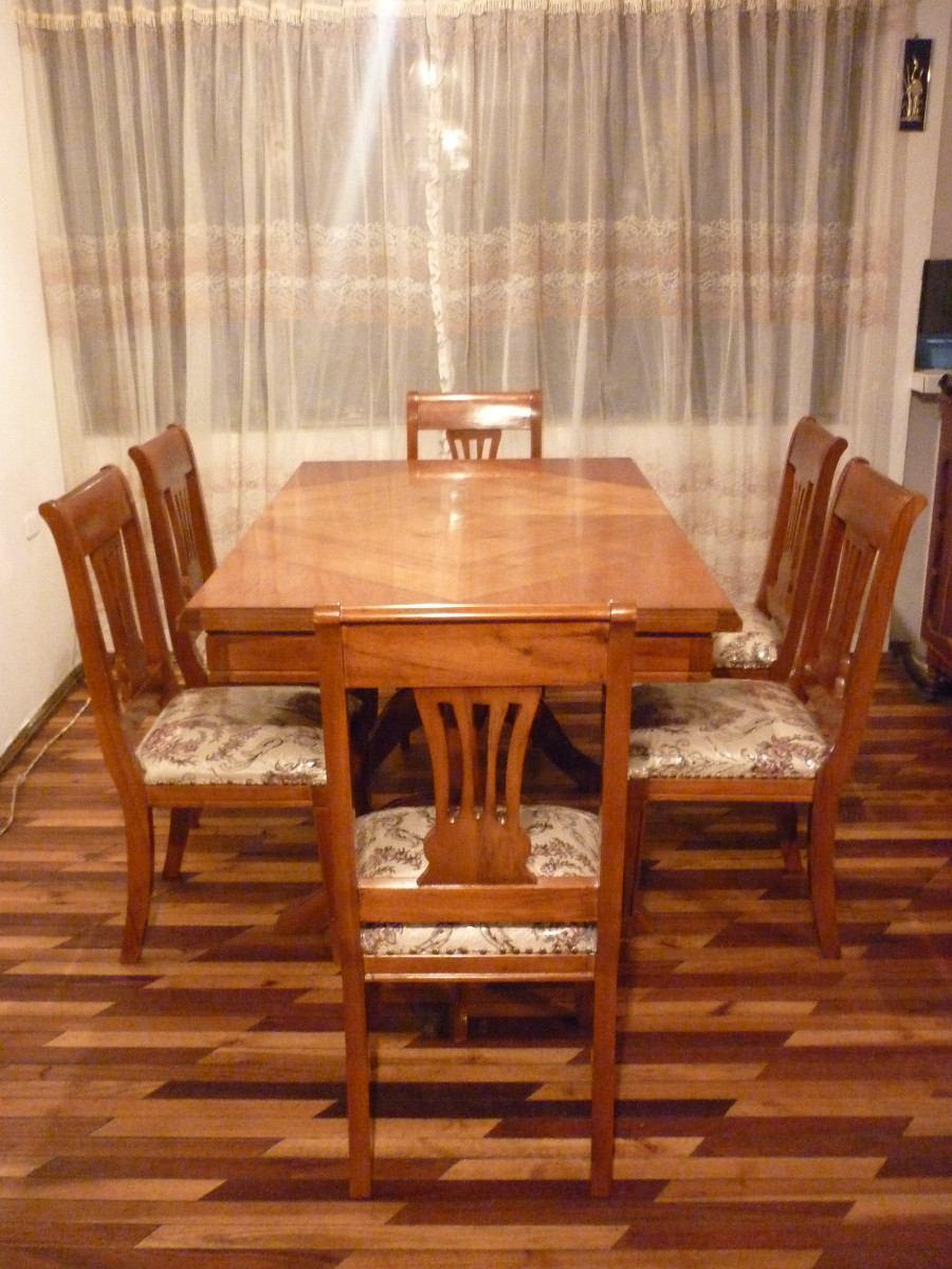 Juego de comedor para 6 personas mesa sillas u s 650 - Mesa comedor 6 sillas ...
