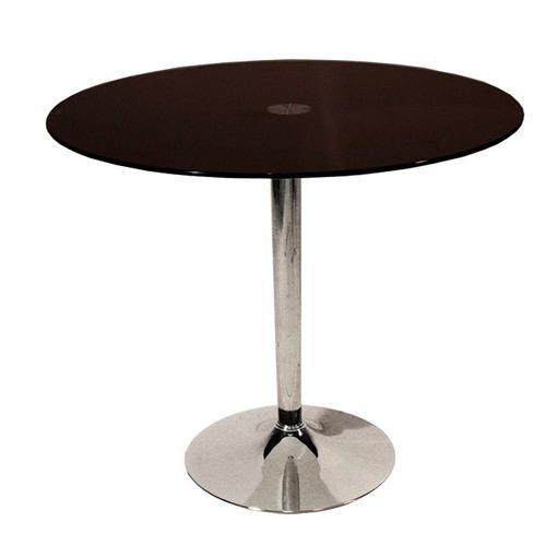 Juego de comedor redondo vidrio 1 metro diametro 4 sillas for Comedor redondo 6 sillas