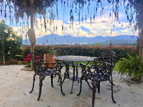 juego de comedor sala y jardin en aluminio, sillas y mesa