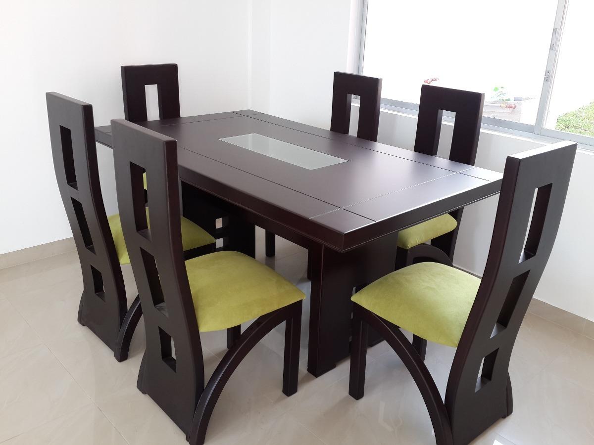 Juego de comedor seis sillas en oferta 42 en for Comedores de madera baratos