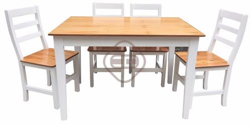 juego de  comedor  sillas y mesa paraiso laqueadas premium