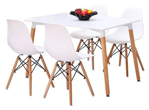 juego de comedor smart modelo eames 4 sillas
