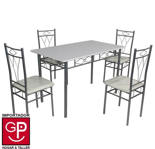juego de comedor tenerife asientos de pu con 4 sillas