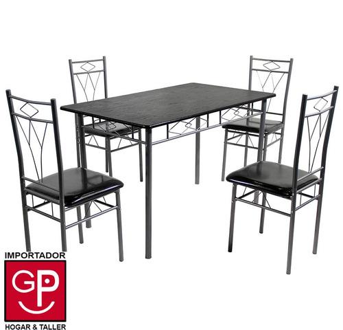 juego de comedor toledo asientos de pu con 4 sillas
