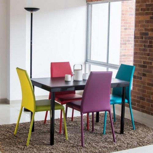 juego de comedor venecia 4 puestos con sillas-multicolor mes