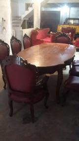 Juego De Comedor Y Muebles De Sala Luis Xv Antiguos Remato