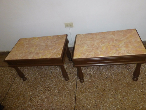 juego de comedor(6) y sala estilo imperio de caoba y mármol