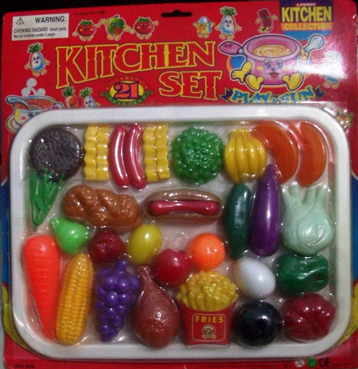 Juego de comida cocina de juguete para ni a ni o 21 piezas - Juegos de ninas de cocina ...