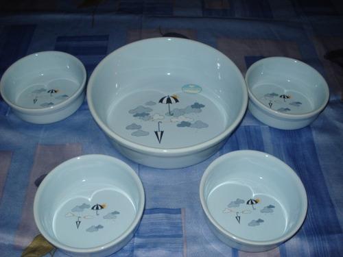 juego de compoteras en ceramica