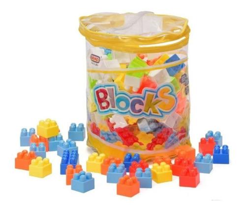 juego de construcción 140 bloques c/ bolso ingenio didactico