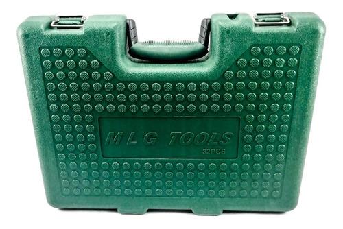 juego de copas 32 piezas mecanica pesada cuadrante 1/2