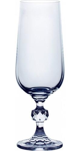 juego de copas champagne x 6 cristal de bohemia claudia
