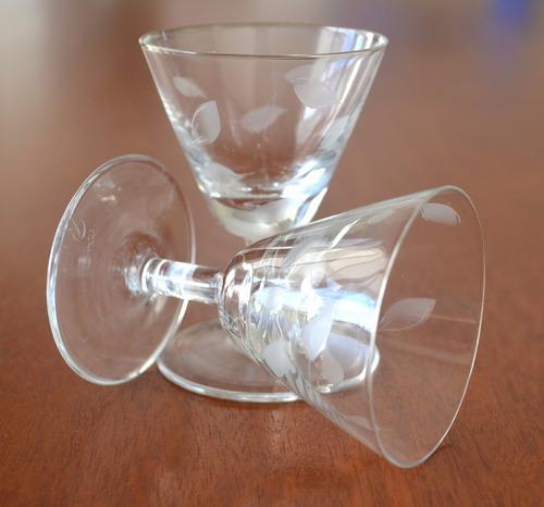 juego de copas de licor cristal