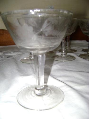 juego de copas talladas