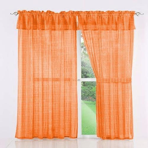 juego de cortina tergal traslúcida 3x2 m.  11 tonos a elegir