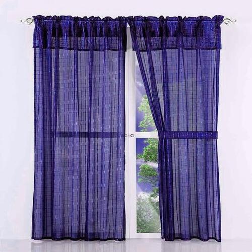 juego de cortina tergal traslúcida con forro chica 2.5x1.5 m
