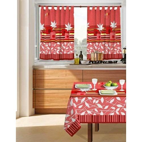 juego de cortinas 2 paños linea hojas cocina ambiente