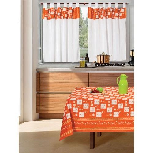 juego de cortinas 2 paños línea primaveral cocina o ambiente