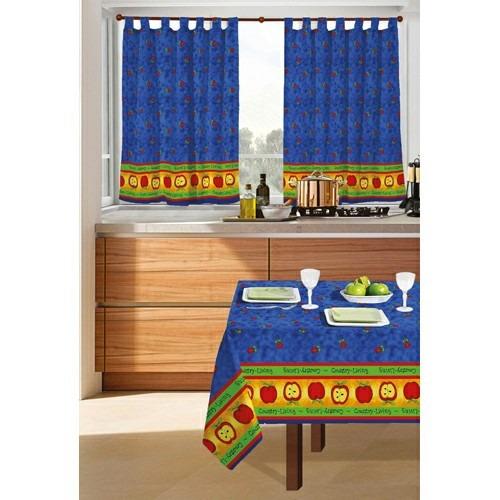 juego de cortinas 2 paños manzanita cocina ambiente