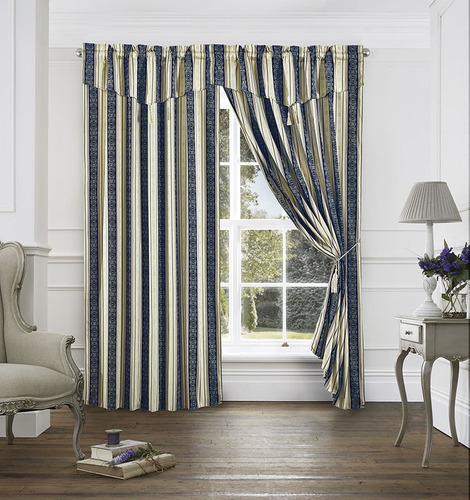 juego de cortinas alcoyana ambiente jaquard rustico borlas