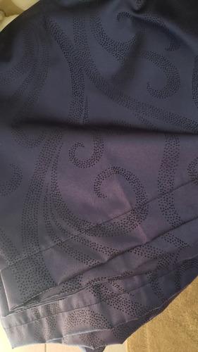 juego de cortinas black out (no permite que pase la luz)
