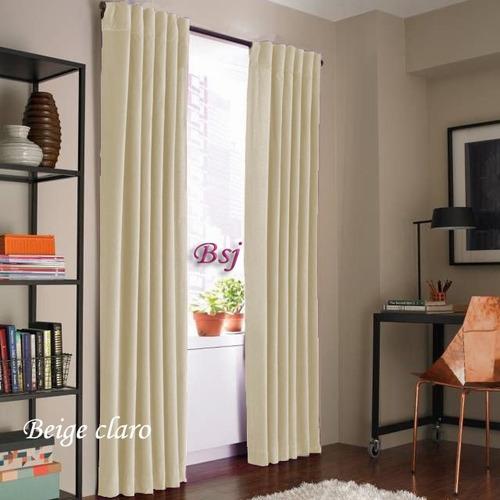 juego de cortinas blackout textil presillas ocultas oferta!