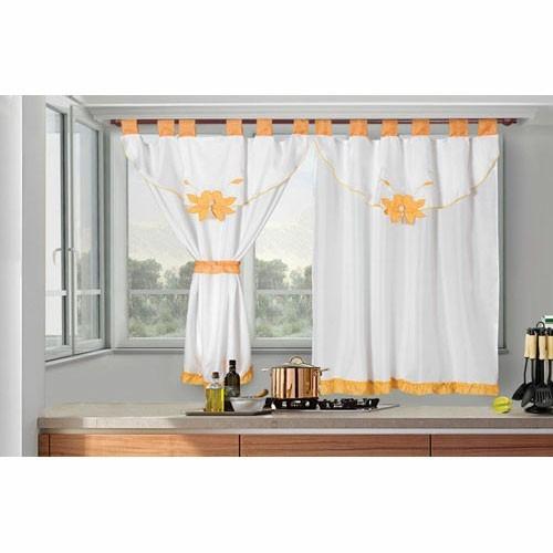 juego de cortinas cocina 2 paños fg bando bordado valenza