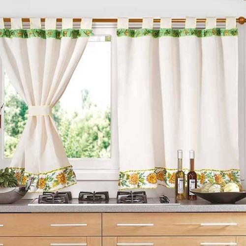 juego de cortinas cocina 2 paños fg estampa riga bando