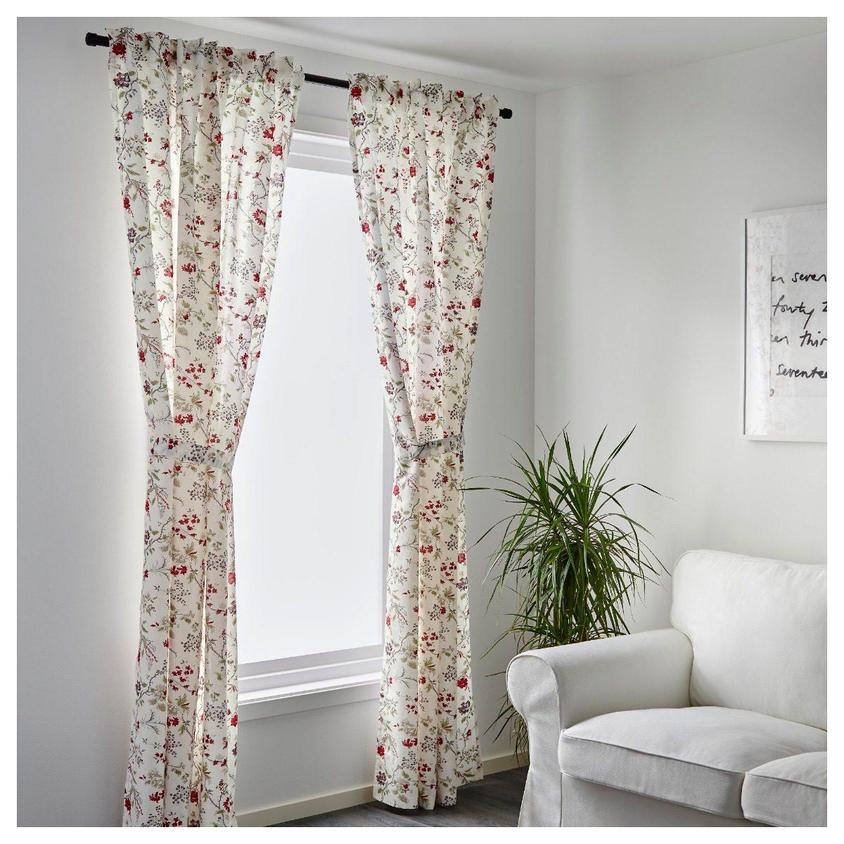 cortinas flores ikea