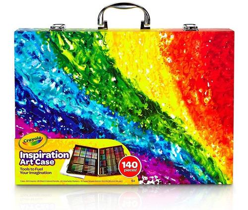 juego de crayolas y plumones set de arte 140 pzas - niño.