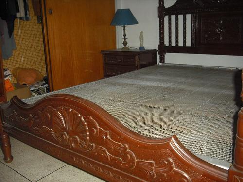 juego de cuarto matrimonial estilo luis xv tallado en madera