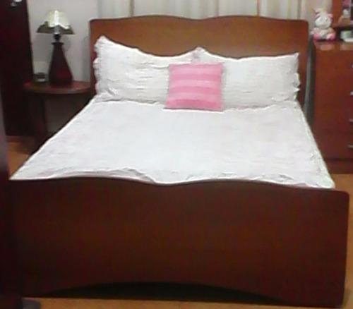 juego de cuarto moderno madera matrimonial incluye colchón